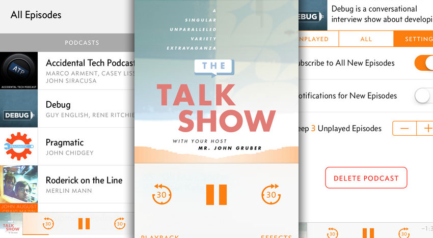 Overcast: New podcast app with voice amplifier