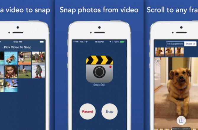 SnapStill: A simple way to extract the best snapshots from your videos