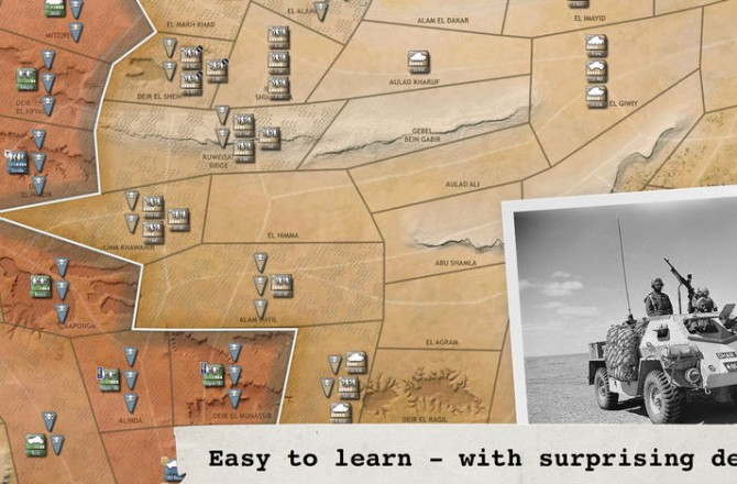 Desert Fox: Participate in the turn-based battle of North Africa in 1942