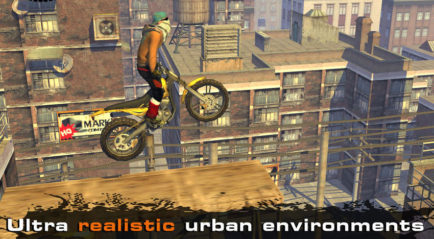 Urban Trial Freestyle: Motocross action in 40 levels
