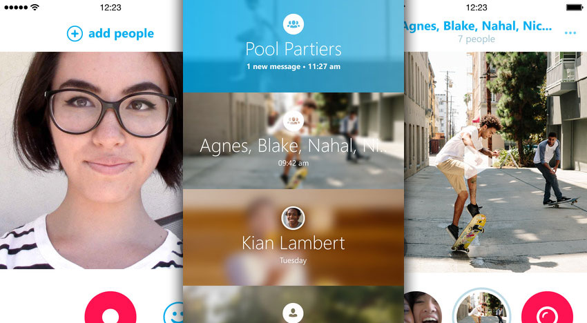 Skype Qik: Gruppen-Videonachrichten