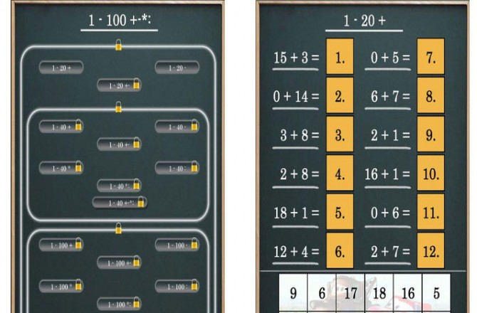 Mathematik 1-100+-*: