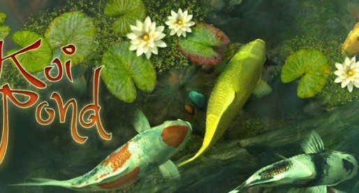 Koi Pond 3D for Mac OS X: There is a carp pond in the Mac!