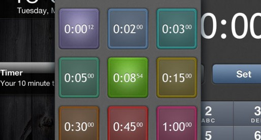 Timer 1.0: Tap to set the timer
