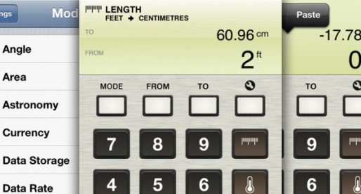 Units – Unit Converter for your iPhone: A Converter for (almost) everything