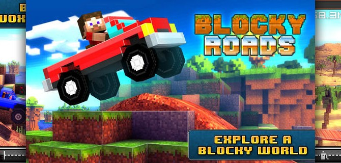 Blocky Roads: Build your own car and drive it across country