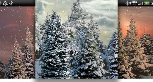 Snowfall Live Wallpaper: Is it once again Christmas already?