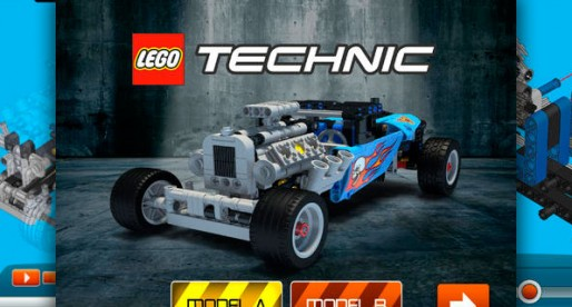 LEGO Building Instructions: Virtual assembly of racing cars
