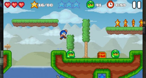 Bloo Kid 2: Swim and dive in this challenging Retro Platformer