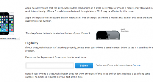 Defect iPhone button will be fixed by Apple