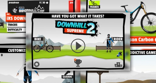 Downhill Supreme 2: Extreme mountain biking with fairly realistic driving physics