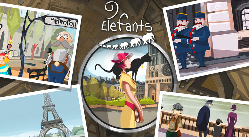 9 Elefants: Greetings from famous Professor Layton