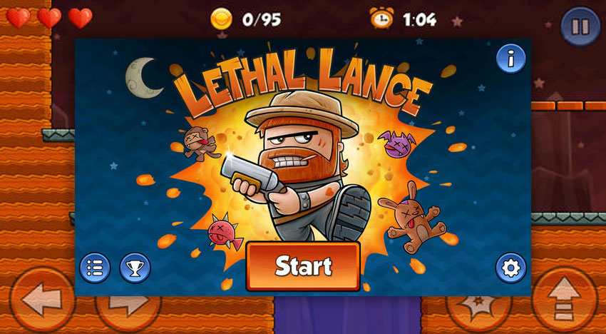 Lethal Lance: A classic Platformer staring a bearded guy with a shotgun