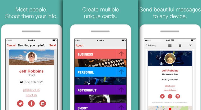 Shoot: the better business card – for productive and up-to-date individuals