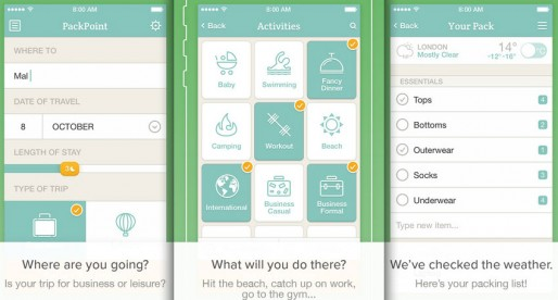 PackPoint packing list builder: Packing your bags made easy