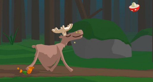 Super Digestion Moose: Simple Tap and Run Game