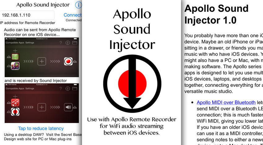Apollo Sound Injector – Streaming Audio between iOS Devices