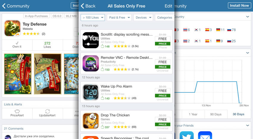 AppZapp Notify: detect all Apps on sale